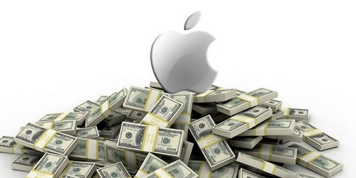 cash with apple logo