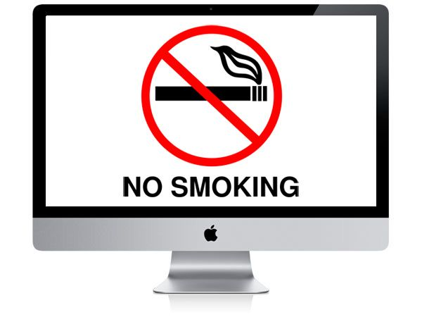 not smoking near apple computer