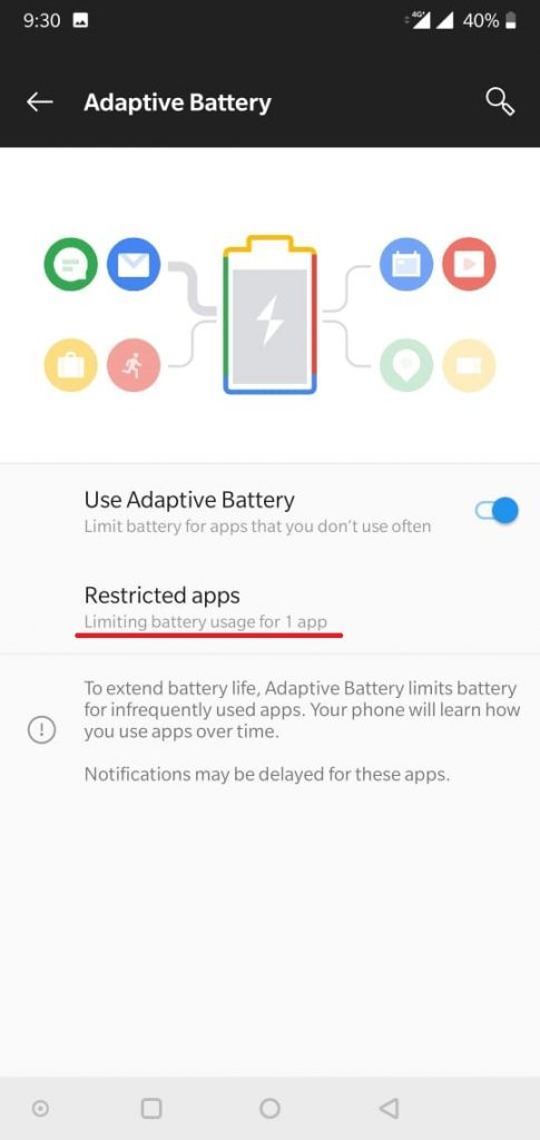 android 9 pie battery