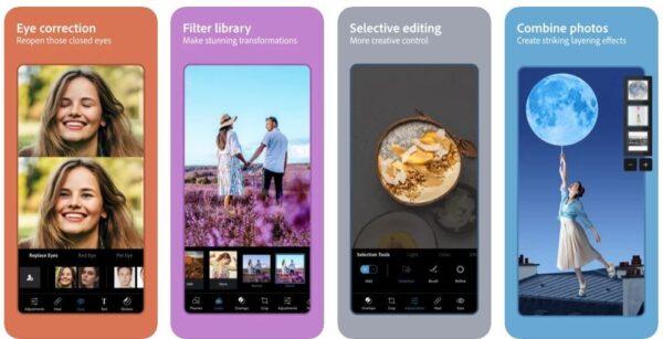 Adobe Photoshop Express App Screenshots
