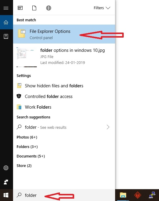 open file explore options, open folder options in windows