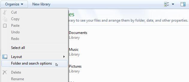 Show hidden files in windows 7, view hidden files in windows 7