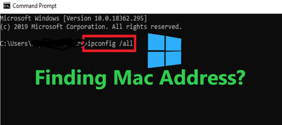 how to find mac address in windows 10 using command prompt