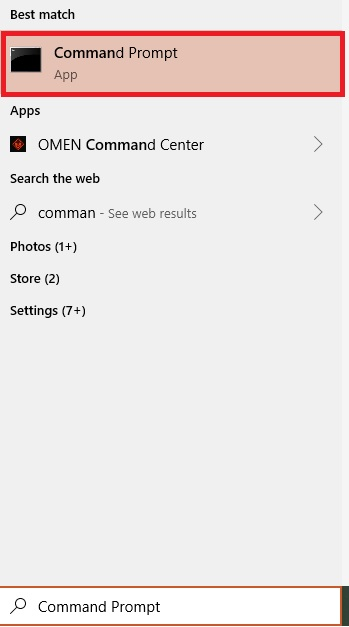 Opening command prompt in Windows 10
