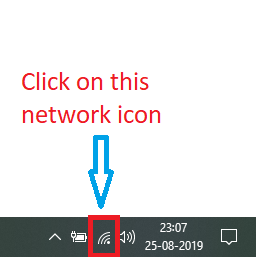 open network icon from desktop
