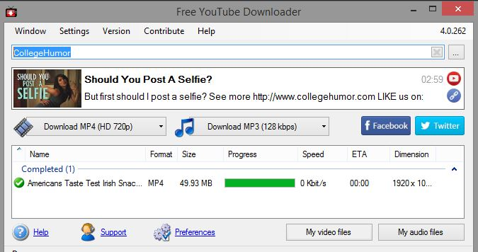 Download YouTube video from free YouTube Downloader