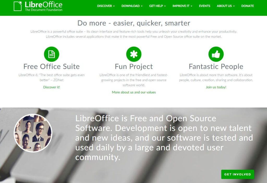 Libre Office Home Page