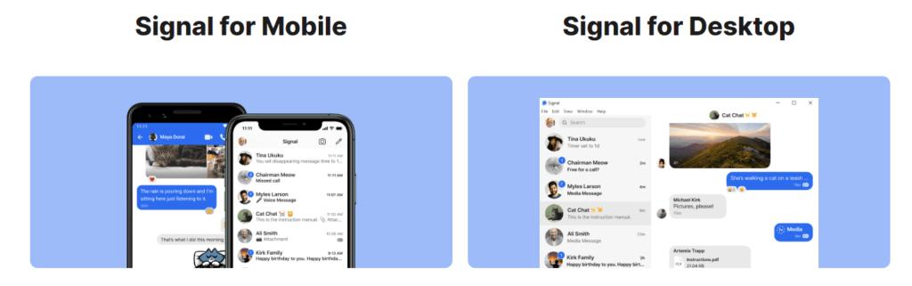 signal is WhatsApp alternative
