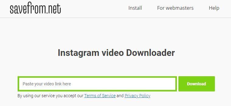 savefrom.net-Instagram-video-downloader