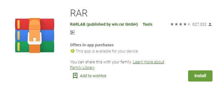 WinRAR for Android Smartphones