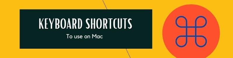 Important Keyboard Shortcuts on Mac
