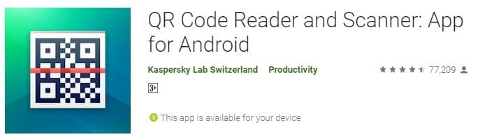 QR Code Scanner App for Android